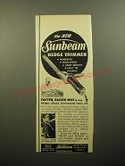 1950 Sunbeam Hedge Trimmer Ad - Powerful
