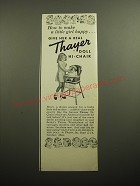 1950 Thayer Doll Hi-Chair Ad - How to make a little girl happy