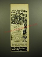 1950 Franco-American Beef Gravy Ad - Welcome surprise for dinner!