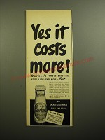1950 Durkee's Famous Dressing Ad - Yes it costs more