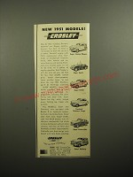 1951 Crosley Car Advertisement - Super Station Wagon, Super Sports, Super Sedan
