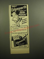 1950 Edgeworth Pipe Tobacco Advertisement - cartoon by William Steig