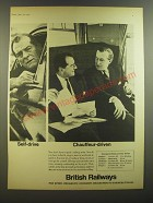 1964 British Railways Ad - Self-drive Chauffeur-driven