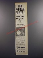 1964 Philips Magnetic Tape Ad - Gift Problem Solver!
