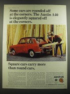 1964 Austin A40 Car Ad - Some cars are rounded off at the corners