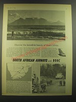 1964 South African Airways Advertisement - Discover the incredible beauty