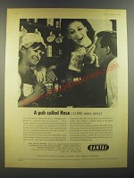 1964 Qantas Airlines Ad - A pub called Rose (12,000 miles away)