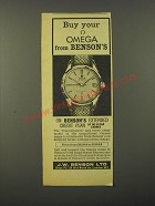 1964 Benson's Omega Constellation Watch Ad - Buy your Omega from Benson's