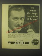 1964 Player's Whiskey Flake Tobacco Ad - The tobacco that keeps the promise of