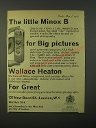 1964 Minox B Camera Ad - The little Minox B for big pictures