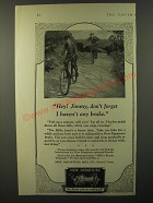1925 New Departure Bicycle Brakes Ad - Hey! Jimmy, don't forget I haven't any