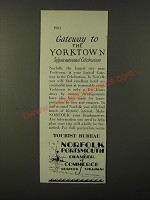 1931 Norfolk Portsmouth Chamber of Commerce Ad - Gateway to Yorktown