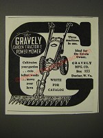 1938 Gravely Garden Tractor & Power Mower Ad - Three machines in one
