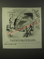 1947 Cartoon by Dick Shaw - Sonny paid back the money we sent him