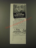 1951 Pella Rolscreens Windows Ad - Window screens that roll up and down