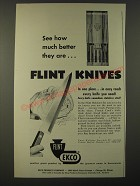1953 Ekco Flint Knives Ad - See how much better they are