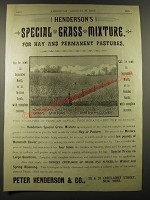 1887 Peter Henderson & Co Special Grass Mixture Advertisement