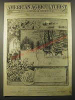 1887 American Agriculturist December Cover Only - Peace on Earth,  good will