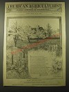 1887 American Agriculturist May Cover Pnly - Paul O. Mueller art, Elliott poem