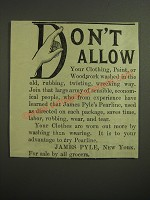 1887 James Pyle's Pearline Ad - Don't allow