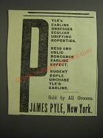 1887 James Pyle's Pearline Ad - Pyle's Pearline Possesses Peculiar Purifying