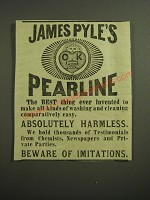 1887 James Pyle's Pearline Ad - James Pyle's Pearline the best thing ever