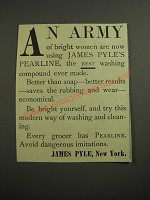 1887 James Pyle's Pearline Ad - An Army of bright women are now using
