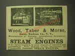 1887 Wood, Taber & Morse Steam Engines Advertisement