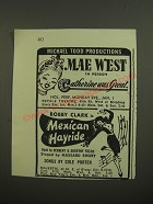 1944 Catherine was Great and Mexican Hayride Plays Advertisement