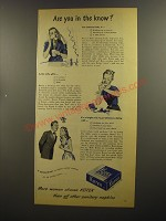 1945 Kotex Sanitary Napkins Ad - Are you in the know?