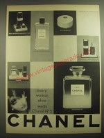 1962 Chanel No 5 Perfume Ad - Every woman alive wants Chanel No 5