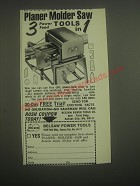 1982 Belsaw Power Tools Ad - Planer Molder Saw 3 Power Feed Tools in 1