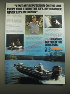 1981 Mariner Outboard Motors Ad - I put my reputation on the line every time