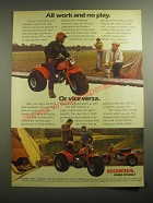 1979 Honda ATC 110 Three-Wheeler Ad - All work and no play