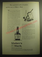 1959 Maker's Mark Bourbon Ad - The wonderful world of bourbon