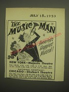 1959 The Music Man Play Advertisement - America's Happiest Musical