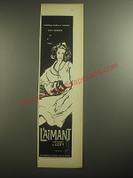 1958 Coty L'Aimant Perfume Ad - Nothing makes a woman more feminine to a man