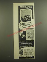1956 Scotts Lawn Seed and Turf Builder Ad - Millions of cleanest best growing