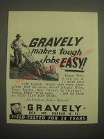 1956 Gravely Tractor Ad - Gravely makes tough jobs easy