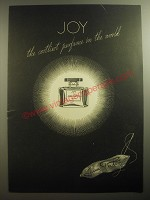 1946 Jean Patou Joy Perfume Ad - Joy the costliest perfume in the world