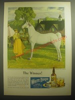 1946 White Horse Scotch Ad - The Winner