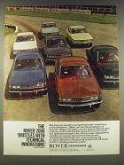 1965 Rover 2000 Ad - The Rover 2000 Bristles with technical innovations