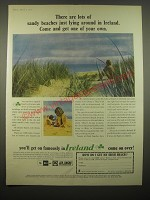1966 Ireland Tourism Ad - There are lots of sandy beaches just lying around