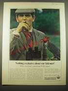 1966 W.D. & H.O. Wills Tobacco Ad - Nothing exclusive about our falconer