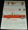 1955 Ford Car Ad, Travel First-Class NICE!!!