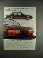 1983 Audi 4000S Sports Sedan Car Ad - Demand Most!