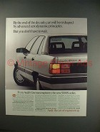 1983 Audi 5000S Sedan Car Ad - Aerodynamic!