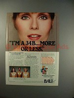 1983 Bali Bra Ad - A 34B, More or Less!