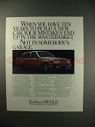1983 Volvo 760 GLE Car Ad - Mistakes in Wastebasket!