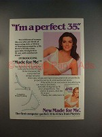 1985 Playtex Made for Me Bra Ad - I'm a perfect 35!